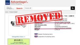 حذف محصولات هایک ویژن از وب سایت تامین پروژه های دولتی آمریکا GSA