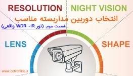 انتخاب دوربین مداربسته : هرآنچه در انتخاب دوربین مداربسته نیاز است بدانید! (قسمت سوم: نور IR و WDR واقعی)