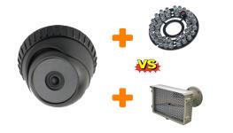 تفاوت کارکرد ال ای دی IR دوربین مداربسته با پروژکتور مجزا