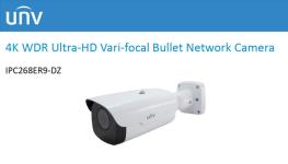 جدیدترین دوربین مداربسته 4K بولت با لنز متحرک(Varifocial) از یونی ویو