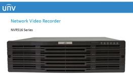 NVR حرفه ای 128 کانال شرکت Uniview با 128 ترابایت هارددیسک